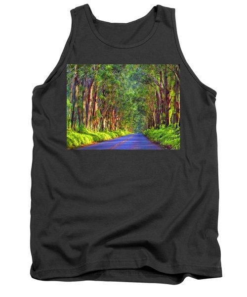 Kauai Tree Tunnel Tank Top by Dominic Piperata