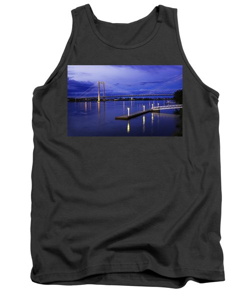 Tank Top featuring the photograph Kennewick Bridge 2 by Sonya Lang