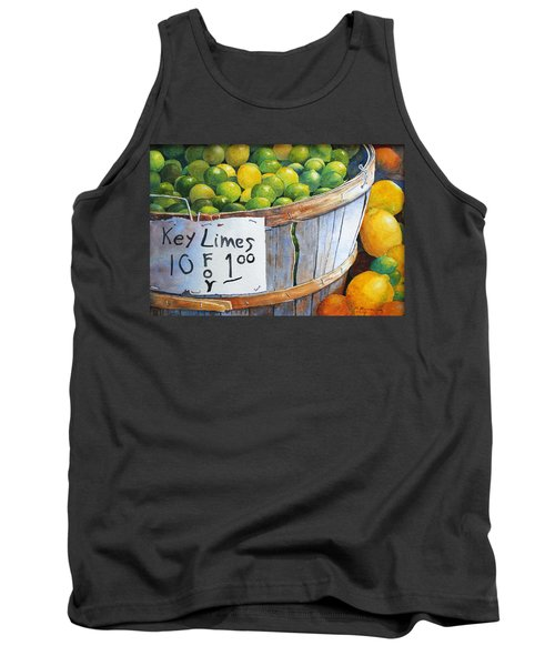Tank Top featuring the painting Key Limes Ten For A Dollar by Roger Rockefeller