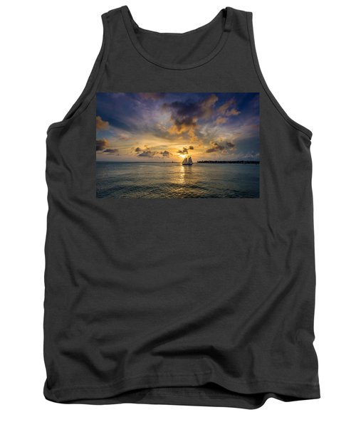 Key West Florida Sunset Mallory Square Tank Top