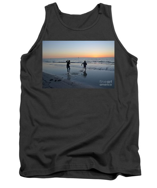 Tank Top featuring the photograph Kids At The Beach by Robert Meanor