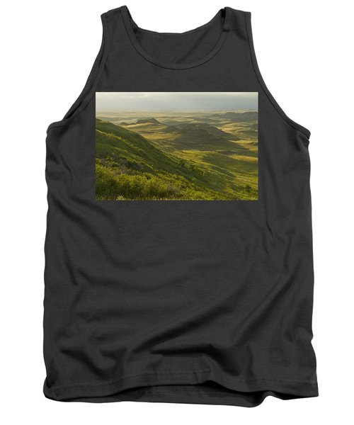 Killdeer Badlands In East Block Of Tank Top by Dave Reede