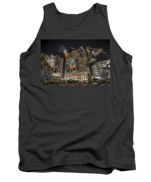 Tank Top featuring the photograph King Kong In Detroit Westin Hotel by Nicholas  Grunas