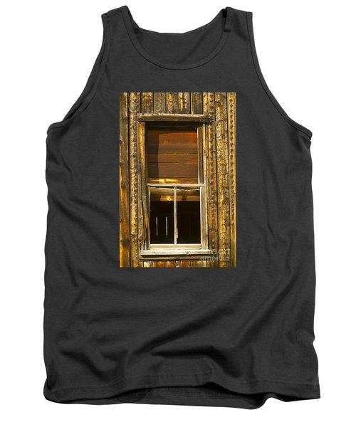 Kirwin Window-signed-#0223 Tank Top by J L Woody Wooden