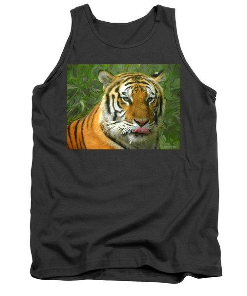 Tank Top featuring the photograph Kisa Painted by Sandi OReilly