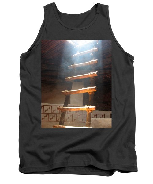 Tank Top featuring the photograph Kiva Ladder by Marcia Socolik