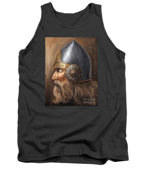 Tank Top featuring the painting Knight by Arturas Slapsys