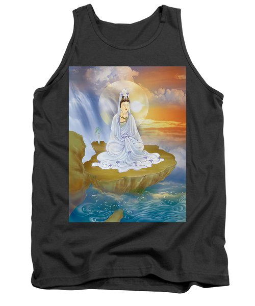 Tank Top featuring the photograph Kwan Yin - Goddess Of Compassion by Lanjee Chee