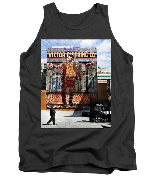 Tank Top featuring the photograph L A  City Beat by Jennie Breeze