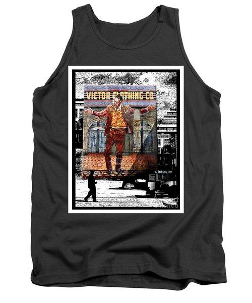 Tank Top featuring the digital art La City Beat Digitized by Jennie Breeze