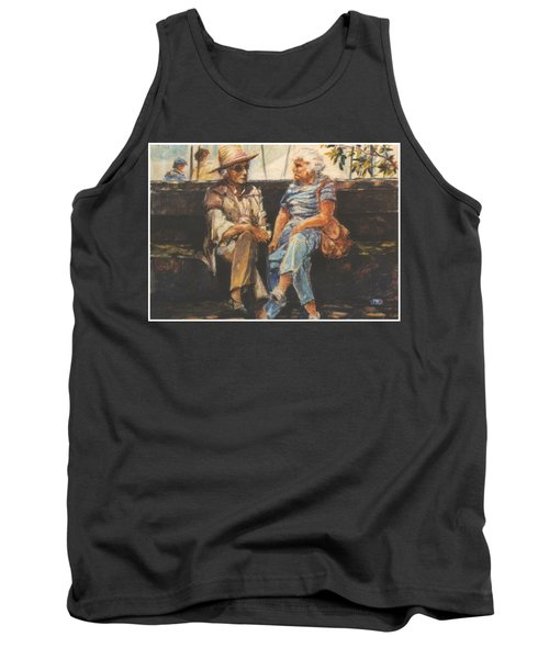 Tank Top featuring the painting Ladies Of Washington Square by Walter Casaravilla