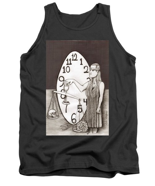 Lady Justice And The Handless Clock Tank Top