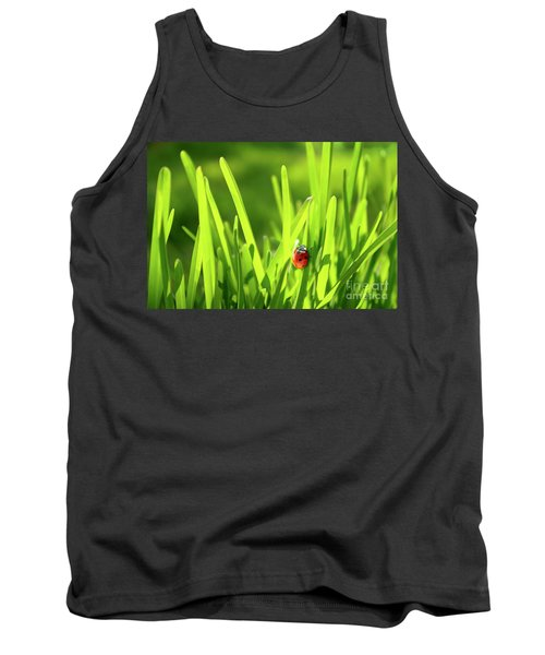 Ladybug In Grass Tank Top