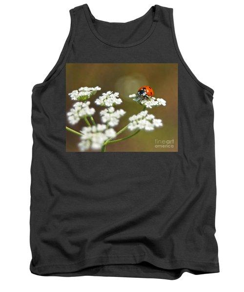 Ladybug In White Tank Top