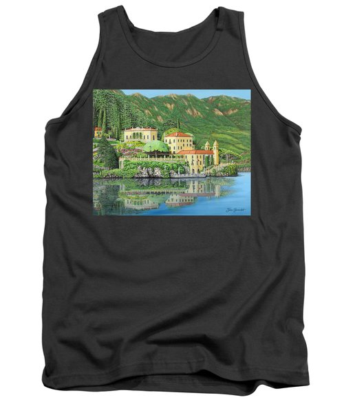Lake Como Morning Tank Top by Jane Girardot