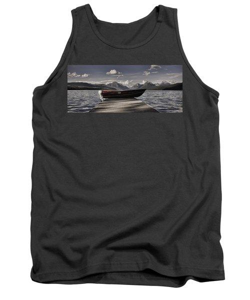 Tank Top featuring the photograph Lake Mcdonald by Ellen Heaverlo