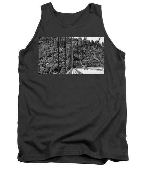 Lake Oroville Bridge Black And White Tank Top