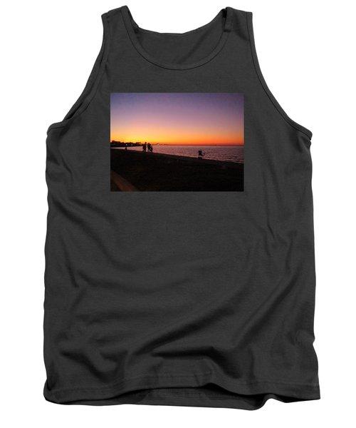 Lake Pontchartrain Sunset Tank Top by Deborah Lacoste