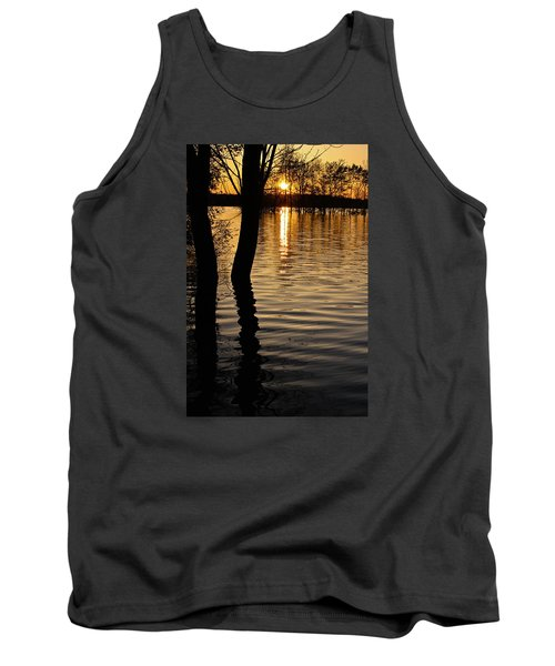 Tank Top featuring the photograph Lake Silhouettes by Julie Andel