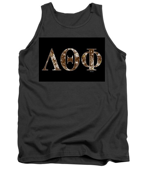 Tank Top featuring the digital art Lambda Theta Phi - Black by Stephen Younts