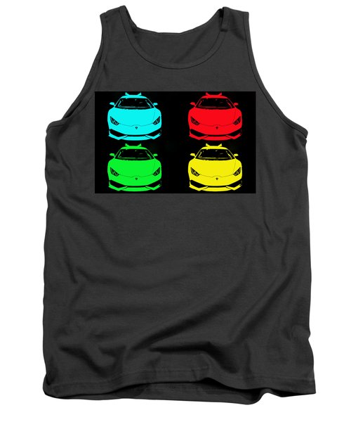 Lambo Pop Art Tank Top by J Anthony
