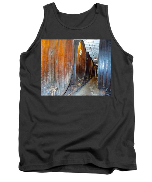 Large Barrels At Korbel Winery In Russian River Valley-ca Tank Top