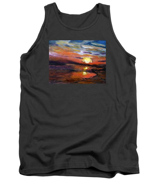 Last Sun Of Day Tank Top by Michael Helfen
