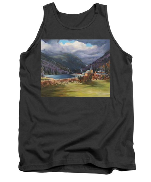 Last Train To Crawford Notch Depot Tank Top by Nancy Griswold