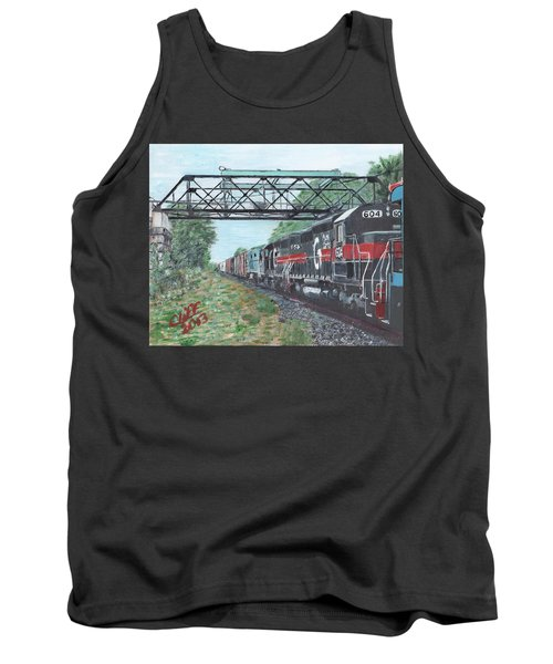 Last Train Under The Bridge Tank Top
