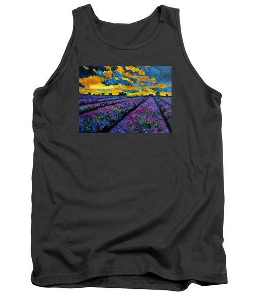 Lavender Fields At Dusk Tank Top by Julie Brugh Riffey