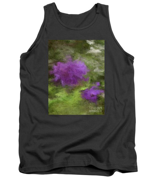Tank Top featuring the digital art Monet Meadow by The Art of Alice Terrill