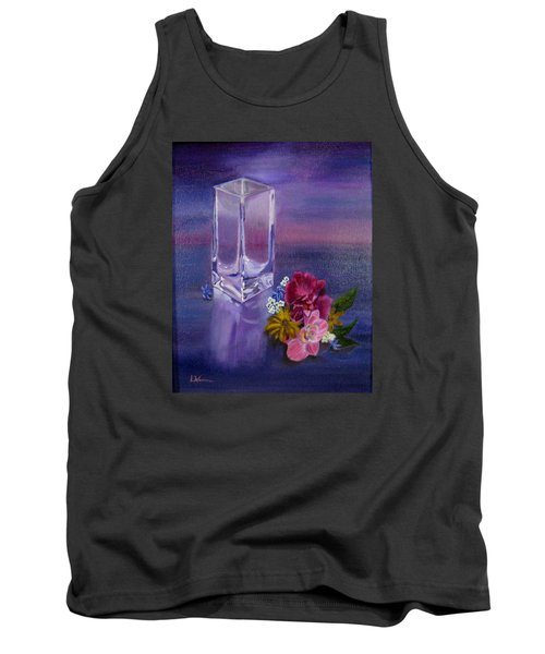 Tank Top featuring the painting Lavender Vase by LaVonne Hand