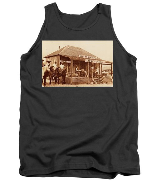 Law West Of The Pecos Tank Top by Pg Reproductions