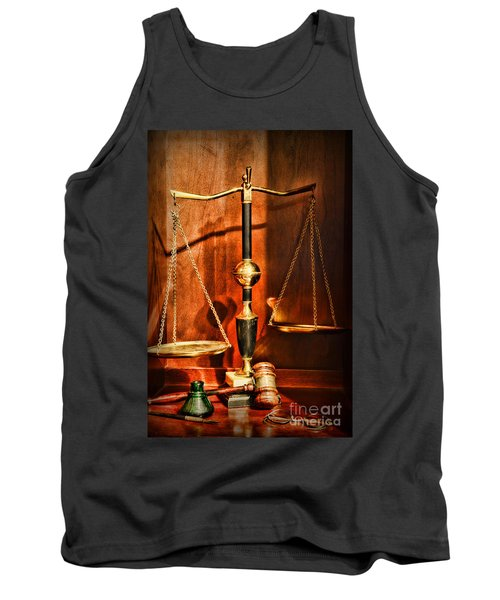 Lawyer - Scales Of Justice Tank Top