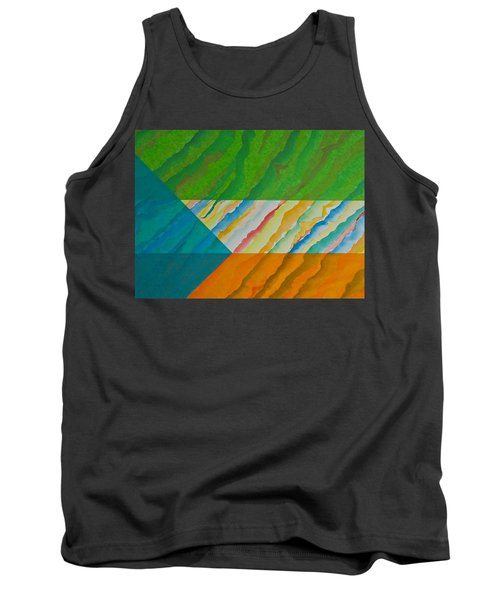 Tank Top featuring the mixed media Layover by Michele Myers