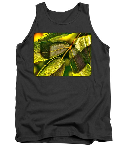 Leaf Texture Tank Top