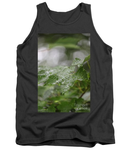 Leafy Raindrops Tank Top