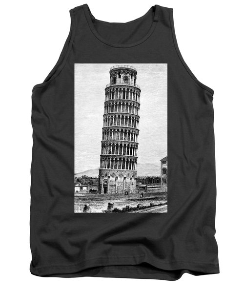 Leaning Tower Of Pisa 1870 Drawing Tank Top