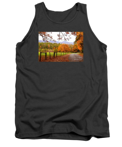 Tank Top featuring the photograph Leaves A'fallin by Geraldine DeBoer