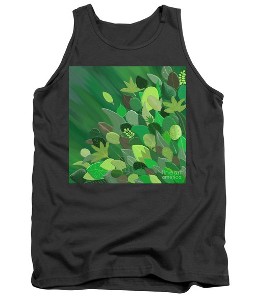 Leaves Are Awesome Tank Top by Linda Lees
