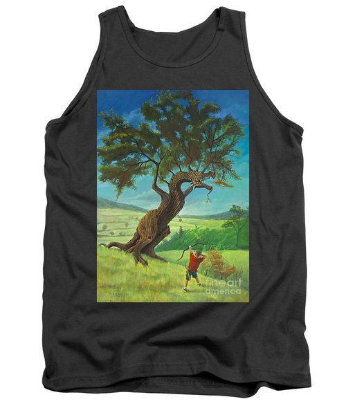 Tank Top featuring the painting Legendary Archer by Rob Corsetti