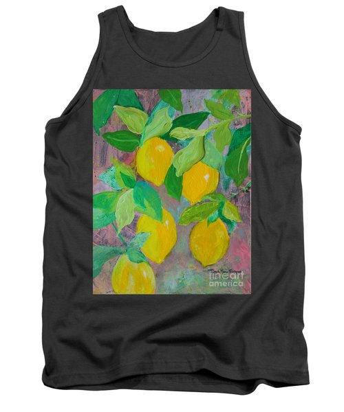 Lemons On Lemon Tree Tank Top