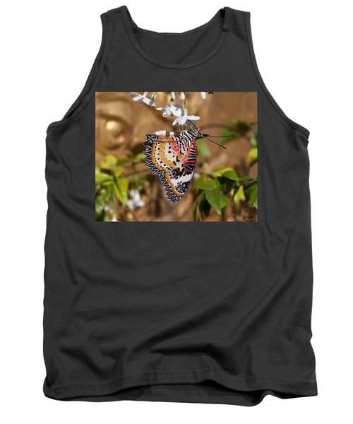 Tank Top featuring the photograph Leopard Lacewing Butterfly Dthu619 by Gerry Gantt