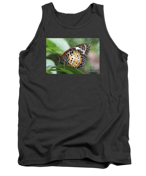 Leopard Lacewing Butterfly Tank Top by Judy Whitton
