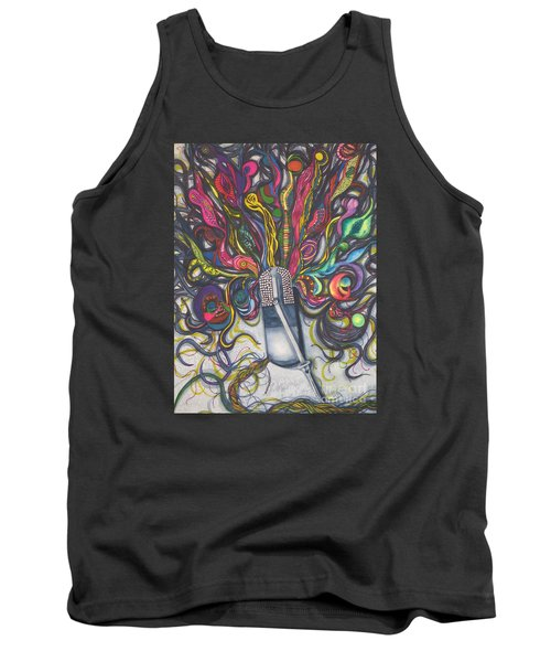 Tank Top featuring the painting Let Your Music Flow In Harmony by Chrisann Ellis