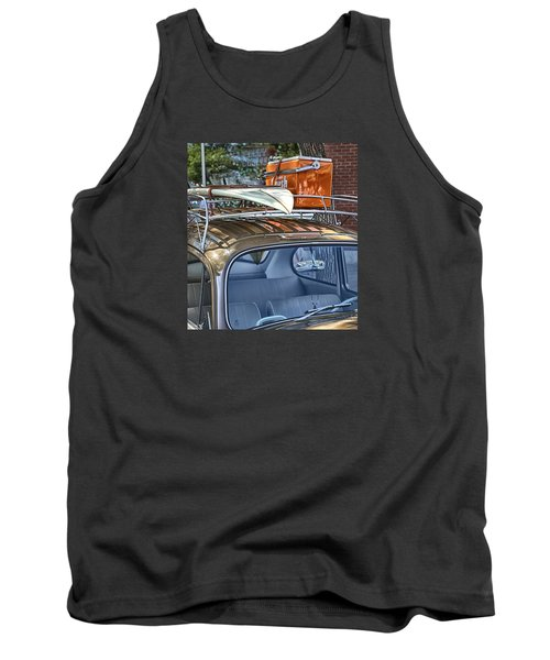 Let's Go Surfing Tank Top by Theresa Tahara