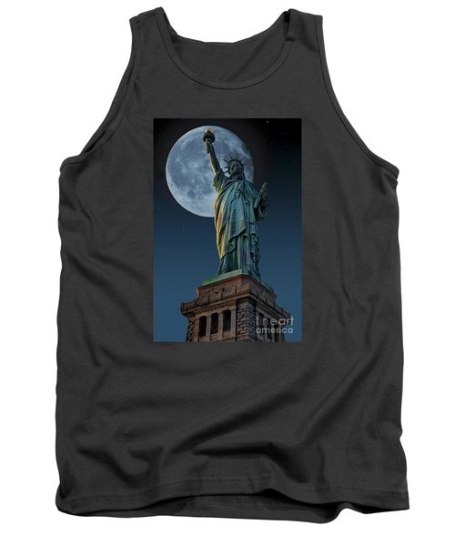 Liberty Moon Tank Top by Steve Purnell