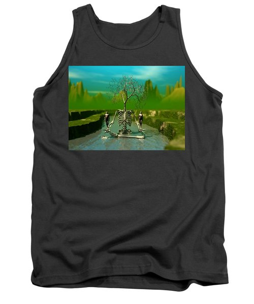 Tank Top featuring the digital art Life Death And The River Of Time by John Alexander