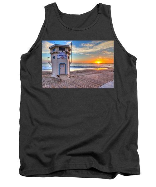 Lifeguard Tower On Main Beach Tank Top