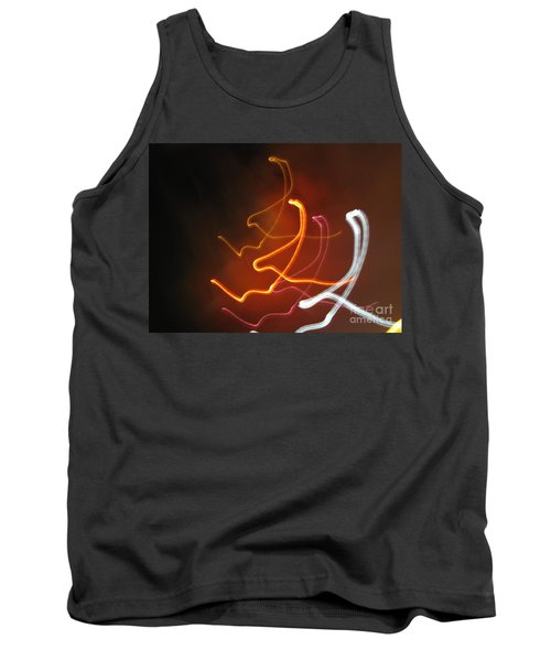 Tank Top featuring the photograph Light Drawing. I..i..i... Dancing Lights Series by Ausra Huntington nee Paulauskaite